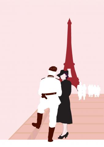 Illustration of WW2 Paris